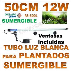 rs 500l 12w 50cm electrical tubo sumergilble blanco plantas acuarios pantalla