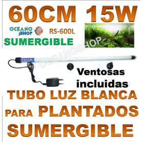 rs 600l 15w 60cm electrical tubo sumergilble blanco plantas acuarios pantalla