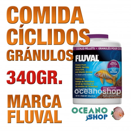 Comida en Gránulos para Cíclidos FLUVAL - 340g / 750ml