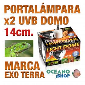 portalámparas-domo-x2-uvb-peq-14-cm