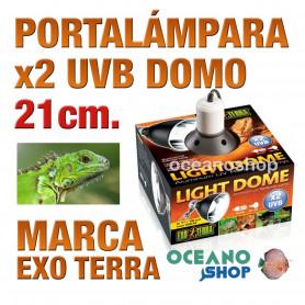 portalámparas-domo-x2-uvb-med-21-cm