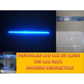 PANTALLA LED 5 W ILUMINACIÓN para acuario gambario. LUZ DE LUNA (AZUL)