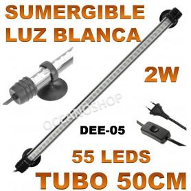 luz pantalla tubo acuario led 50cm dee 05 deebow blanca