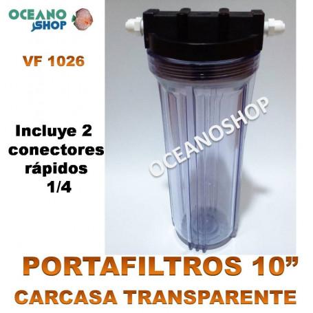 porta filtros cartucho 10 vf1026 transparente resina osmosis acuario marino