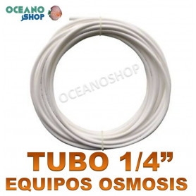 """Tubo blanco 1/4"""" osmosis PRECIO POR METRO"""