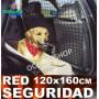 red seguridad coche perro gato mascota bultos 120x160 cm