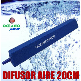 difusor aire acuario compresor 20 cm oxigeno oxigenador piedra difusora