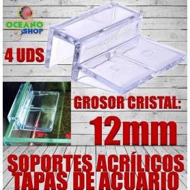 soporte acrilico tapas acuario 12 mm cristal agarre