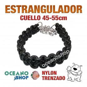 COLLAR ESTRANGULADOR PARA PERROS GRANDES ADIESTRAMIENTO NYLON 45-55cm L6 2239