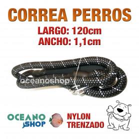CORREA PERROS EMPUÑADURA ACOLCHADA FOAMEX GRAN COMODIDAD 120cm Longitud y 1,1cm Anchura L7 3439