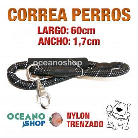 CORREA PERROS EMPUÑADURA ACOLCHADA FOAMEX GRAN COMODIDAD 60cm Longitud y 1,7cm Anchura L10 3436