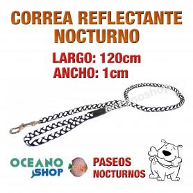 CORREA PERRO REFLECTANTE NOCTURNO DE CALIDAD 120CM LARGO L12 2936