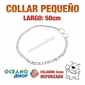 COLLAR 50cm PERRO 2 MODOS NORMAL Y ESTRANGULADOR Peq L18 1934