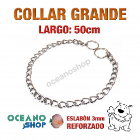 COLLAR 50cm PERRO 2 MODOS NORMAL Y ESTRANGULADOR Gde L19 1935