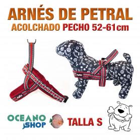 ARNÉS REFORZADO TALLA S PETRAL AJUSTABLE PERRO PECHO 52-61cm