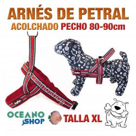 ARNÉS REFORZADO TALLA XL PETRAL AJUSTABLE PERRO PECHO 80-90cm