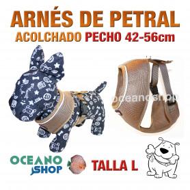 ARNÉS PETRAL ACOLCHADO Y CÓMODO AJUSTABLE PERRO TALLA L PECHO 42-56cm