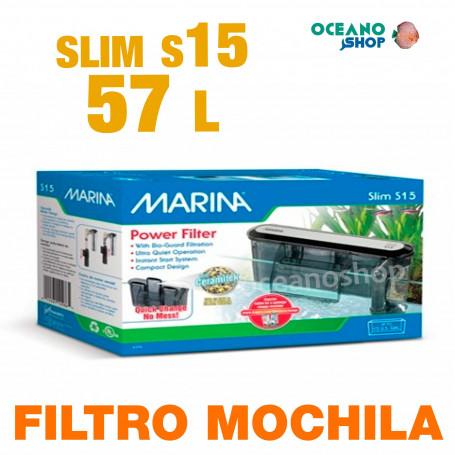 Filtro Mochila Slim Marina 15 acuario caja blanca