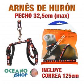 ARNÉS Y CORREA PARA HURONES AJUSTABLE CALIDAD 32,5cm Máximo de PECHO