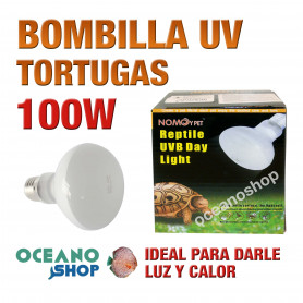 BOMBILLA UV PARA TORTUGAS REPTILES TORTUGUERAS ILUMINACIÓN 100W L66 2689