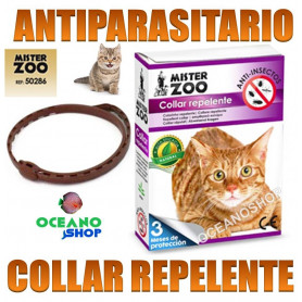 collar antiparasitos repelente gato antiparasitario pulgas garrapatas mister zoo mosquitos 50286