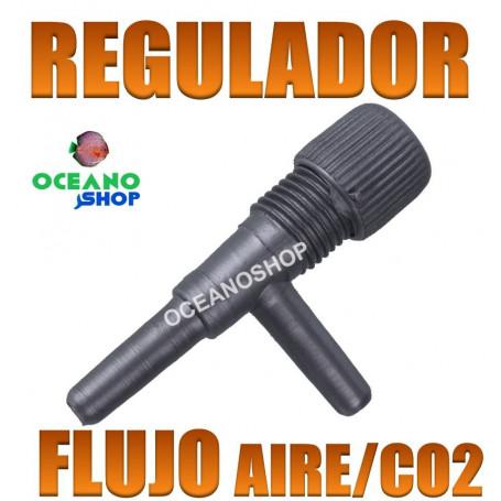 Llave de regulación de flujo de aire o co2 para mangura de 4/6mm