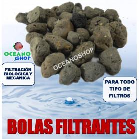 bolas filtrantes ceramica acuario filtro filtracion canutillos material foamex carbon activo