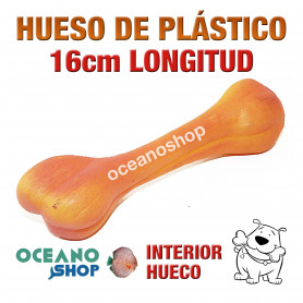 Juguete Hueso Plástico Naranja Perro 16cm Longitud