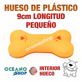 Juguete Hueso Plástico Naranja Pequeño Perro 9cm Longitud