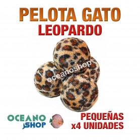 Juguete x4 pelotas gato pequeñas leopardo 3,5cm diámetro
