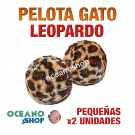 Juguete x2 pelotas gato pequeñas leopardo 3,5cm diámetro