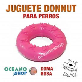 Juguete Donnut Rosa Goma maziza para Perro 7cm Calidad