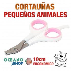 Cortauñas tijeras pequeños animales perro gato roedor pájaro ergonómico 10cm