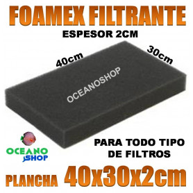 foamex filtrante filtro recambio acuario mochila interior exterior