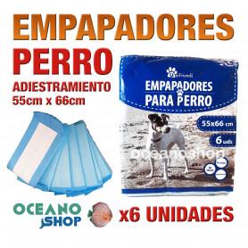 Pack empapadores perro x6 unidades 55x66cm antibacterias reciclables cachorros adiestramiento