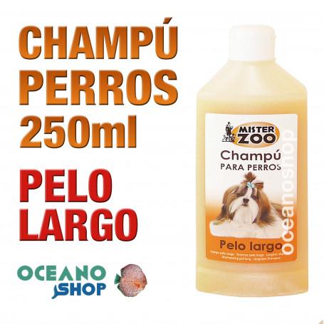 Champú perro pelo largo tensoactivos piel 250ml
