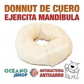 Donnut de cuero nudo perro ejercita mandíbula 8cm