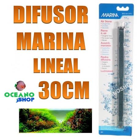 difusor piedra lineal marina 30cm acuario oxigeno difusora