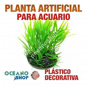 Planta artificial decoración acuario plástico verde 10cm altura