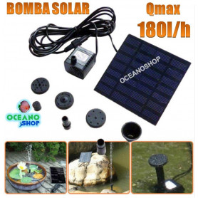 bomba panel solar sumergible estanque 180lh