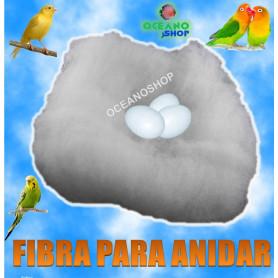 fibra anidar nido pajaro canario cama agaporni jilgero loro ninfa diamente gould