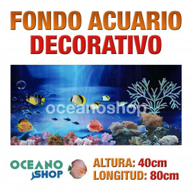 Fondo 80x40cm acuario decorativo vinilo fondo peces marinos marino peces calidad