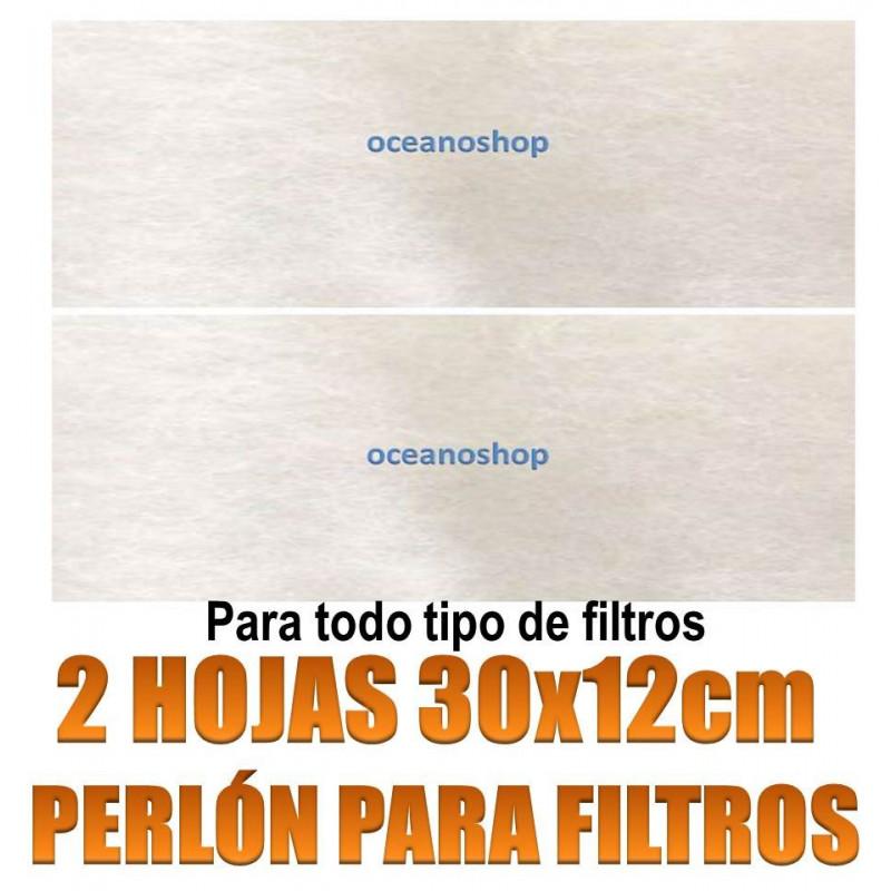 hojas perlon filtros acuario 30x12cm material filtrante ceramica carbon