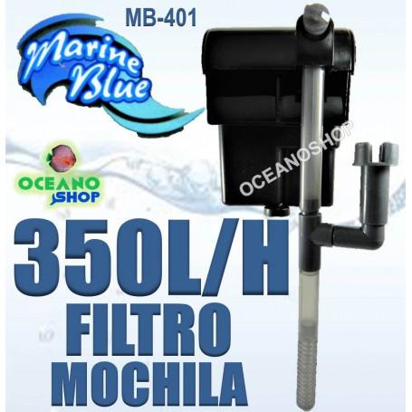 filtro mochila marine blue mb401 cascada 350 lh acuario pecera