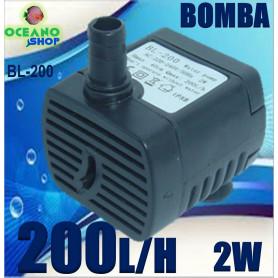 bomba 200lh sumergible acuario belen agua baojie bl200