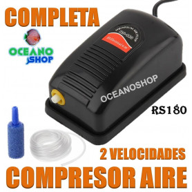 rs 180 compresor aire aireador acuario barato 1 salida con regalos