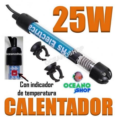 Calentador 25W para acuario y pecera. Nuevos modelos. A precio Increible!!!