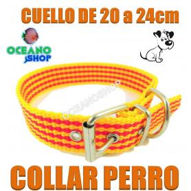 collar perro cataluña señera pais catala catalan 20 24cm