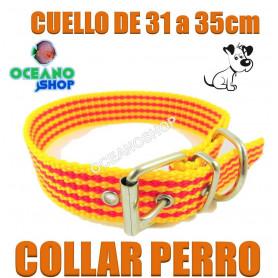 collar perro cataluña señera pais catala catalan 31 35cm