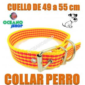 collar perro cataluña señera pais catala catalan 49 55cm